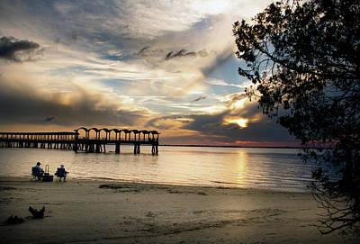Atlantic Photograph - Sunset Fishing by Chrystal Mimbs