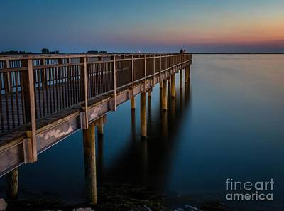 Photograph - Sunset Fishing Pier by Darleen Stry