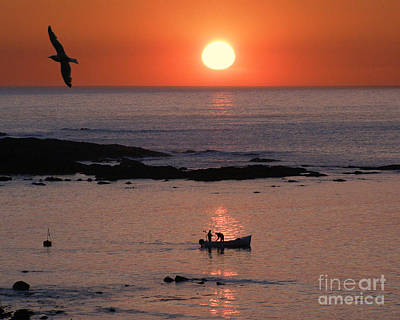 Sennen Cove Photograph - Sunset Fishing by Terri Waters