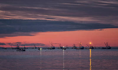 Photograph - Sunset Fleet by Randy Hall
