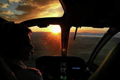 Photograph - Sunset Flight by Arthur Dodd