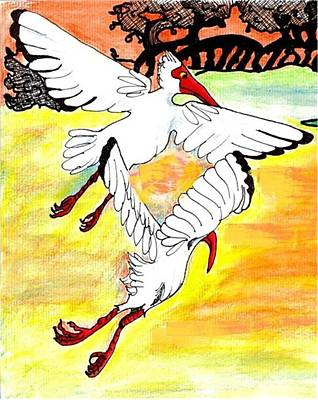 Mango Drawing - Sunset Flight by Carol Allen Anfinsen