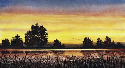 Painting - Sunset Flight by Douglas Castleman