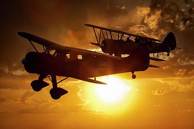 Photograph - Sunset Flight by Jay Beckman