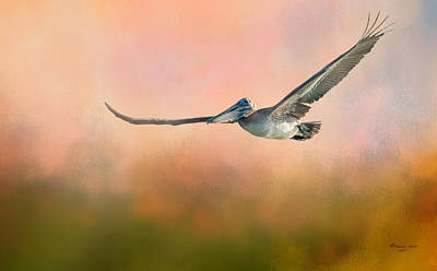 Sea Bird Photograph - Sunset Flight by Marvin Spates