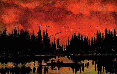 Photograph - Sunset Flight Of The Ducks by Andrea Kollo
