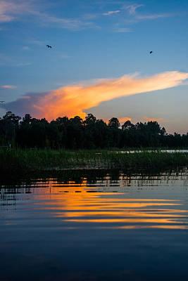 Photograph - Sunset Flight by Parker Cunningham