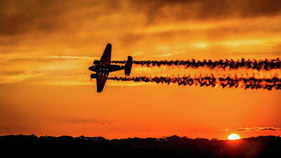 Beechcraft Photograph - Sunset Flight by Mountain Dreams