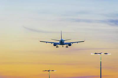 Photograph - Sunset Flight by Ross G Strachan