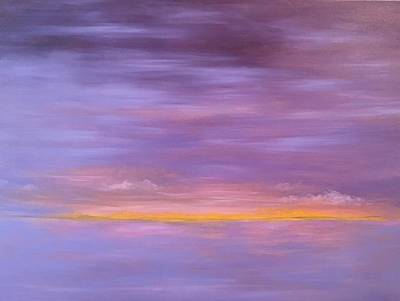 Painting - Golden Sunset by Flo Markowitz