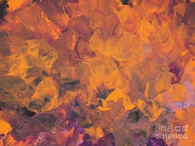 Painting - Sunset Flowers by Corinne Elizabeth Cowherd