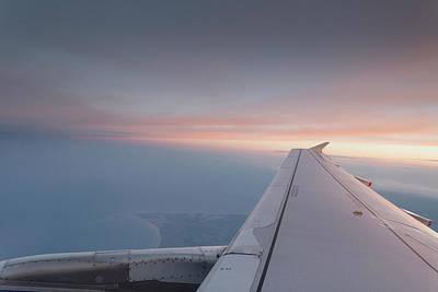 Photograph - Sunset Flying by David Pyatt