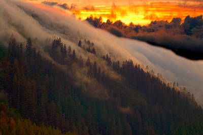 Photograph - Sunset Fog by Harry Spitz