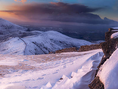 Photograph - Sunset Following The Mourne Wall by Glen Sumner