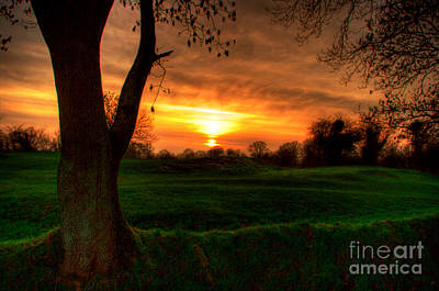 Sunset For The Past Art Print by Kim Shatwell-Irishphotographer