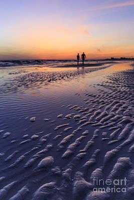 Photograph - Sunset Fort Myers Beach Florida by Edward Fielding