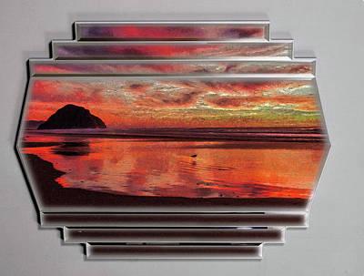 Digital Art - Sunset Frame by Mario Carini