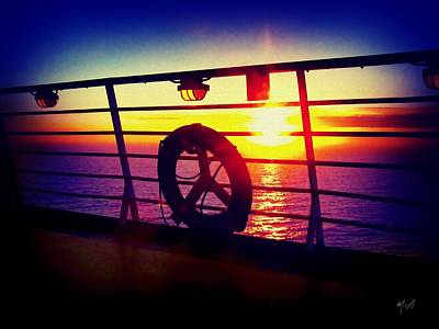 Photograph - Sunset From A Cruise Ship by Mark Taylor