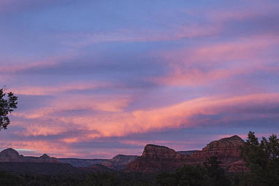 Sunset From Bell Rock Trail Art Print by Laura Pratt