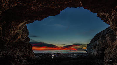Photograph - Sunset From Brady's Cave by Tim Bryan