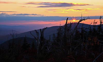 Photograph - Sunset From Caps Ridge, Mount Jefferson by Benjamin Dahl