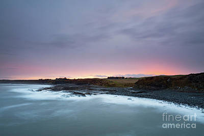 Northumbrian Photograph - Sunset From Cullernose Point by Tony Higginson