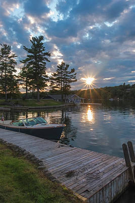 Photograph - Sunset From Dock by Tom Singleton