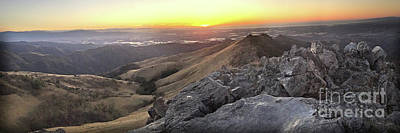 Photograph - Sunset From Fremont Peak In The Gabilan Range -  Dec. 3. 2017 by California Views Archives Mr Pat Hathaway Archives