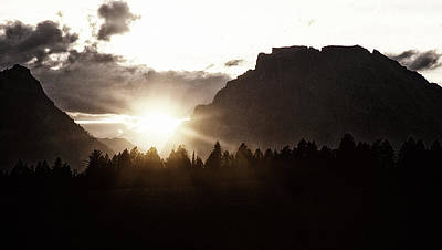 Photograph - Sunset From Front Porch Grand Tetons by Steve Archbold