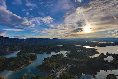 Guatape Photograph - Sunset From Guatape by Johanan Roa