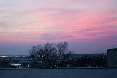Photograph - Sunset From Liberty Memorial by Angie Rayfield