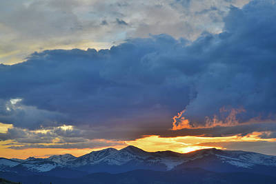 Photograph - Sunset From Mt. Evans Highway by Ray Mathis