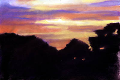 Painting - Sunset From My Back Door by Rachel Rose