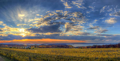 Winery Photograph - Sunset From Old Mission by Twenty Two North Photography