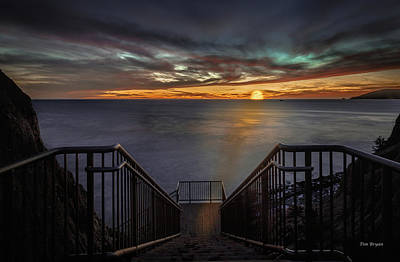 Photograph - Sunset From Sandpiper Staircase by Tim Bryan