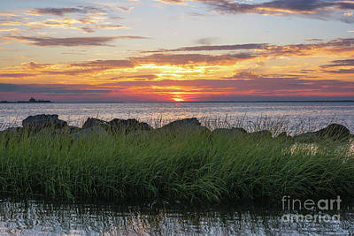 Photograph - Sunset From Sandy Hook Nj by Michael Ver Sprill