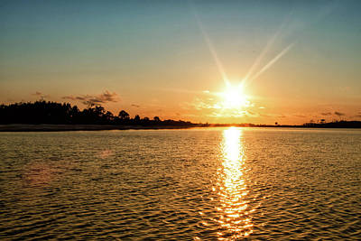 Photograph - Sunset From Shell Island by Debra Forand