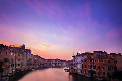 Accademia Photograph - Sunset From The Accademia Bridge by Andrew Soundarajan