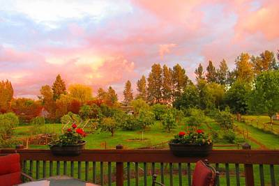 Photograph - Sunset From The Back Deck by Karen Molenaar Terrell