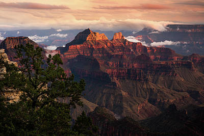 Sunset From The Grand Canyon Lodge Art Print by Adam Schallau