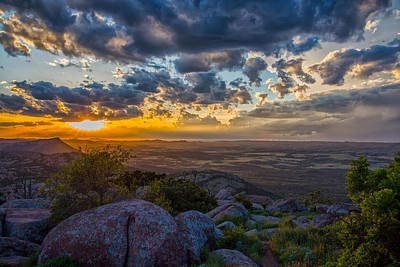 Photograph - Sunset From The Heavens by James Menzies
