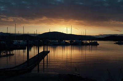 Photograph - Sunset From The Launch Ramp by Cathy Mahnke