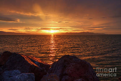 Photograph - Sunset From The Marina by Spencer Baugh