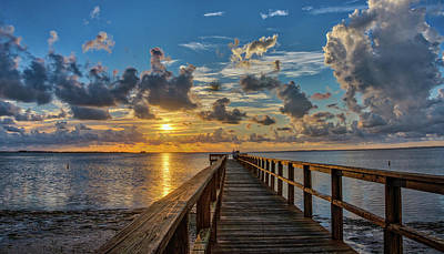 Photograph - Sunset From The Pier by Jane Luxton