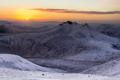 Photograph - Sunset From The Summet Of Slieve Commedagh by Glen Sumner