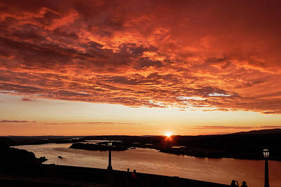Photograph - Sunset From Vista House  by Wes and Dotty Weber