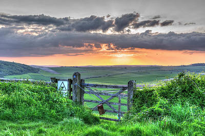 Photograph - Sunset Gate by Hazy Apple