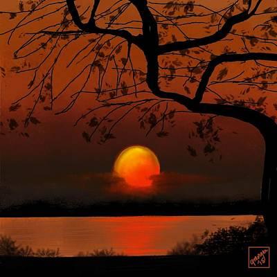 Digital Art - Sunset by Gerry Morgan
