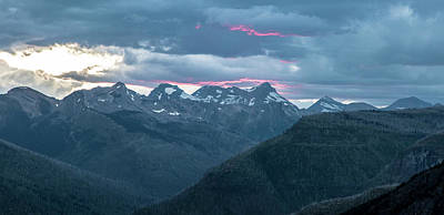 Photograph - Sunset Glacier National Park by John McGraw