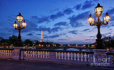 Photograph - Sunset Glow In Paris by Tim Mulina